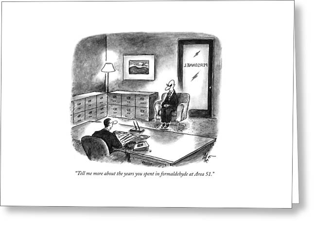 Tell Me More About The Years You Spent Greeting Card by Frank Cotham