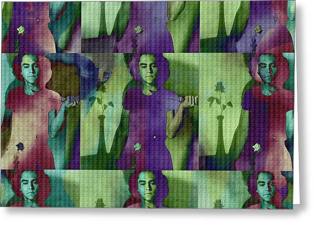 Teller / Early Shadows X9 Greeting Card by Elizabeth McTaggart