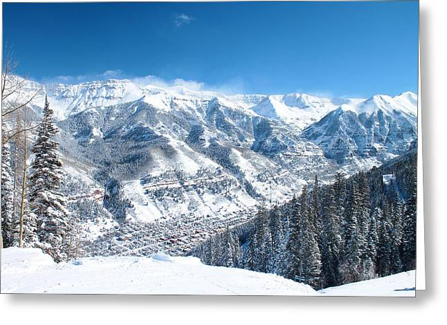 Telluride Snowscape Greeting Card