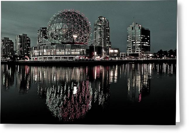 Telus World Of Science Greeting Card by Brian Chase