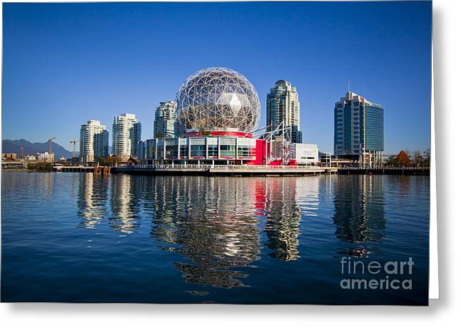 Telus World Of Science Vancouver Greeting Card by Chris Dutton
