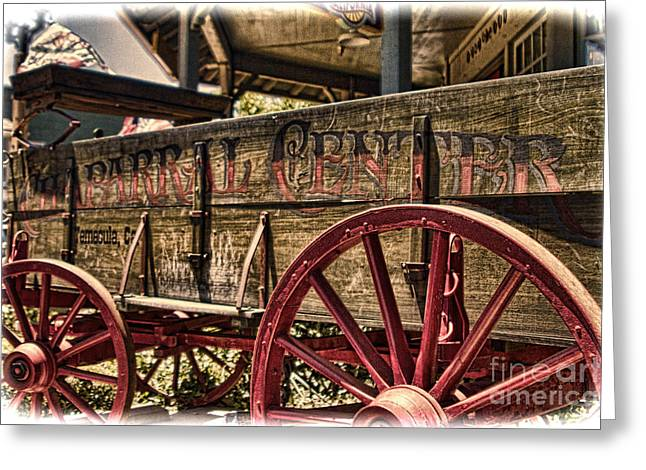 Temecula Wagon Greeting Card