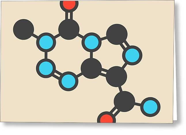 Temozolomide Cancer Drug Molecule Greeting Card
