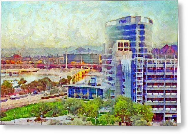 Tempe Arizona Skyline In The Early Morning Greeting Card