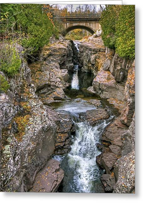 Temperance River Greeting Card by Bryan Benson