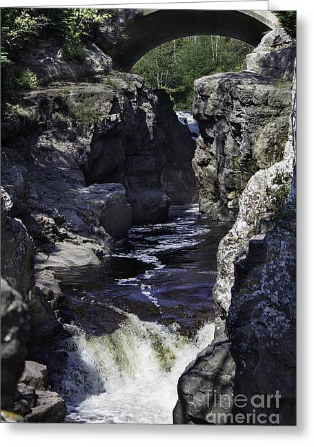 Temperance River Greeting Card by CJ Benson