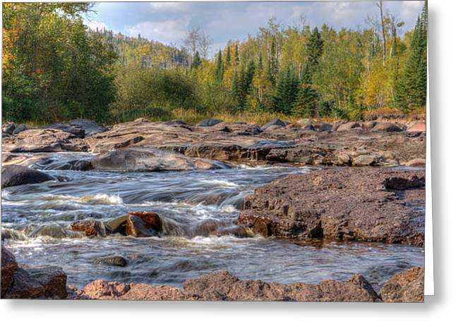 Temperance River Fall  Greeting Card by Shane Mossman