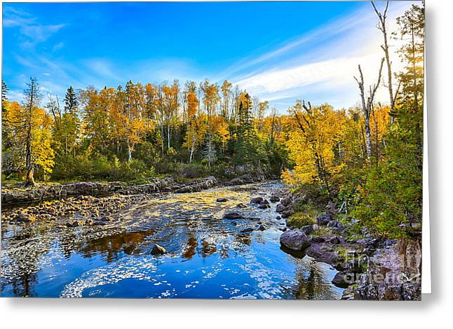 Temperance River Scene Greeting Card by Bryan Benson