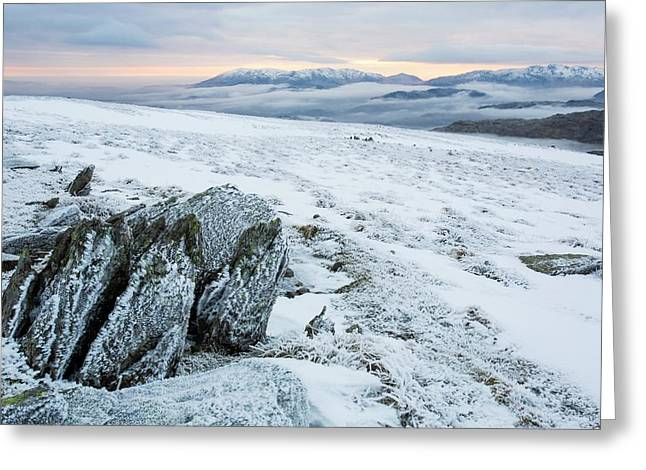 Temperature Inversion From Red Screes Greeting Card