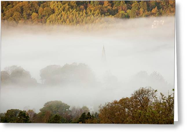 Temperature Inversion Over Ambleside Greeting Card by Ashley Cooper