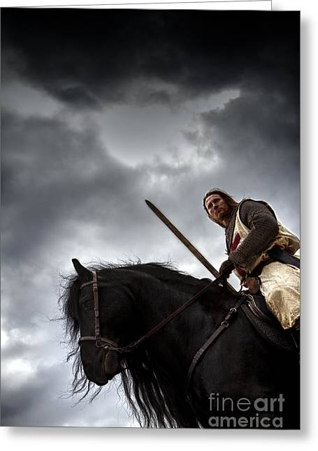 Templar Knight Friesian Iv Greeting Card by Holly Martin