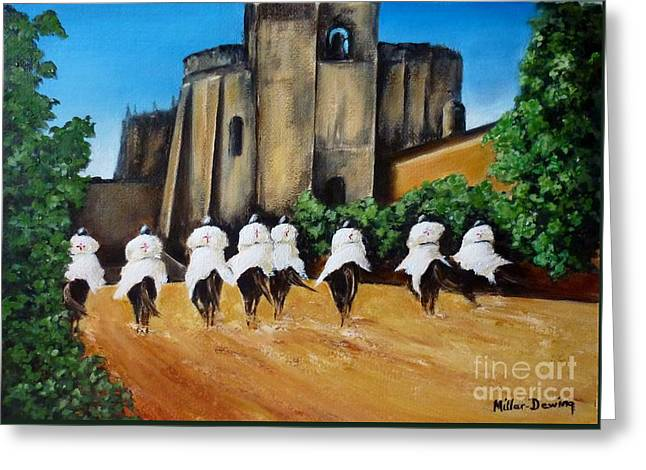 Templar Knights And The Convent Of Christ Greeting Card