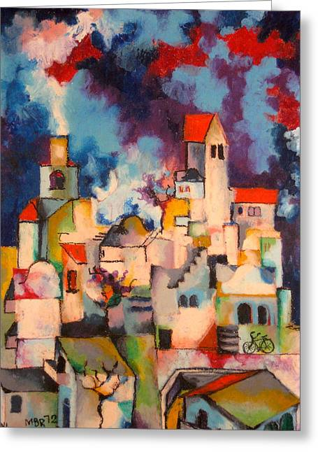 Templars' Colony Jerusalem Greeting Card by Moshe BenReuven