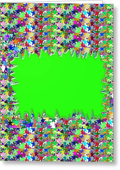 Template Art Star Sparkle And Empty Box To Add Your Image Or Text Greeting Card by Navin Joshi