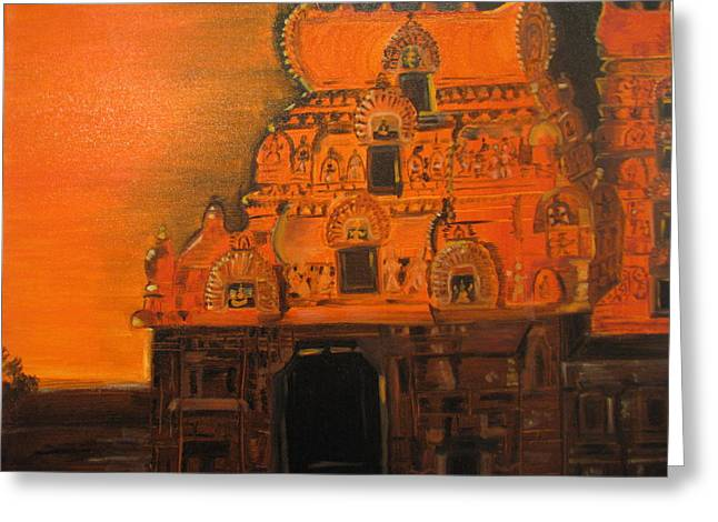 Temple At Dawn Greeting Card