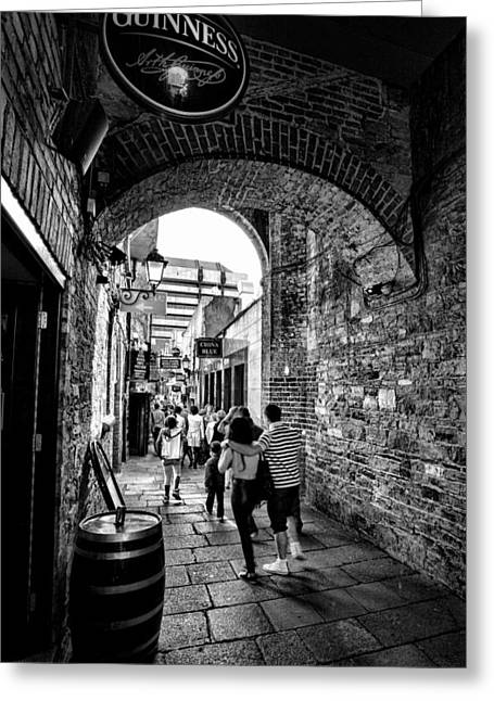 Temple Bar Dublin Ireland Greeting Card