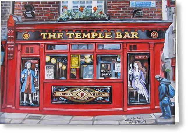 Temple Bar Dublin Ireland Greeting Card