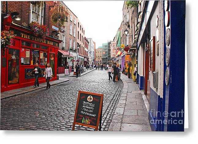 Greeting Card featuring the photograph Temple Bar by Mary Carol Story