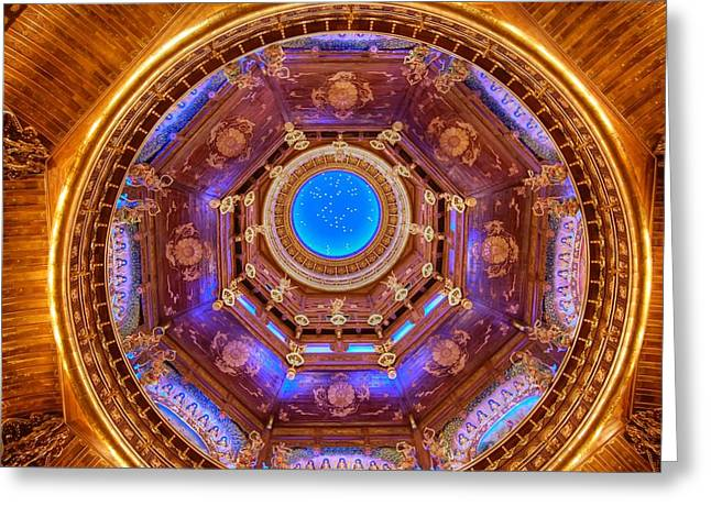 Temple Ceiling Greeting Card