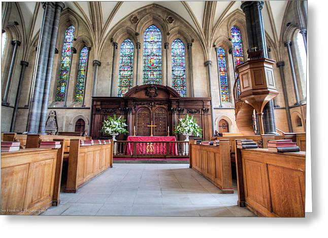 Greeting Card featuring the photograph Temple Church by Ross Henton