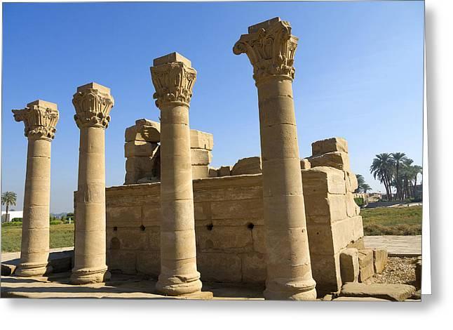 Temple Entrance At Denderah Greeting Card