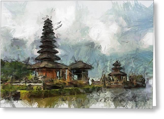 Temple Greeting Card by Georgi Dimitrov