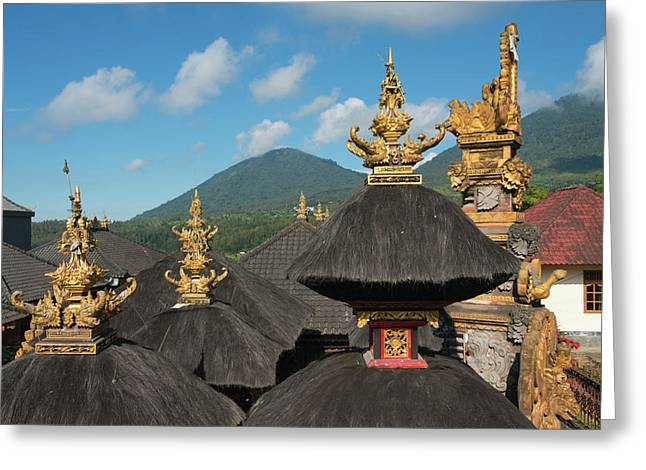 Temple In The Mountain, Bali Island Greeting Card