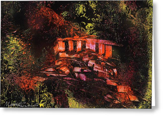 Temple In The Woods Greeting Card by Mike Cicirelli