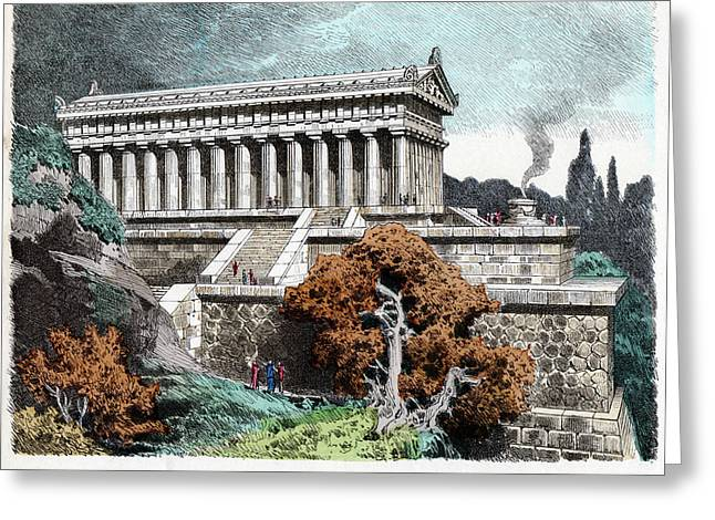 Temple Of Artemis Greeting Card by Cci Archives