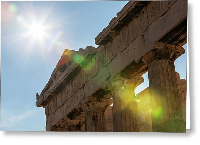 Temple Of Athena  Athens, Greece Greeting Card