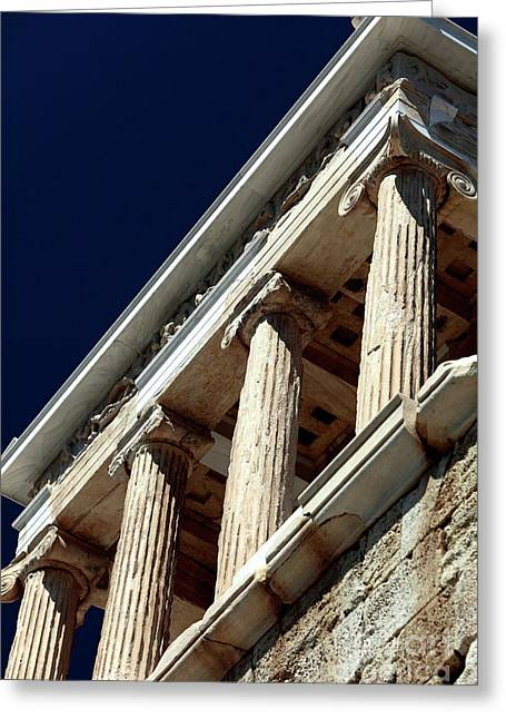 Temple Of Athena Nike Columns Greeting Card