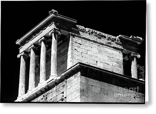 Temple Of Athena Nike Greeting Card by John Rizzuto