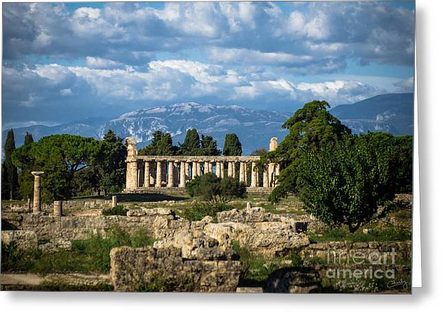 Temple Of Athena Greeting Card by Prints of Italy