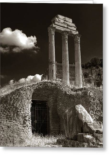 Temple Of Castor And Polux Greeting Card