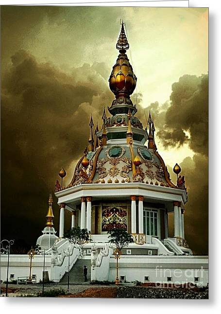 Temple Of Clouds  Greeting Card