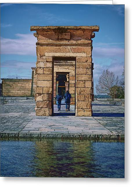 Temple Of Debod II Greeting Card by Joan Carroll