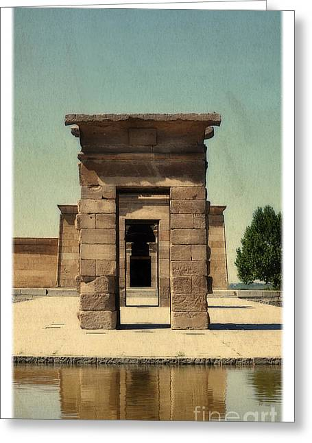 Temple Of Debod Greeting Card by Mary Machare