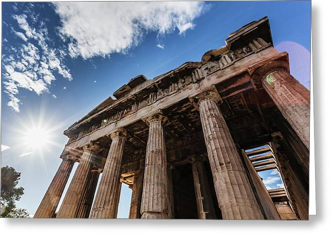 Temple Of Hephaestus  Athens, Greece Greeting Card