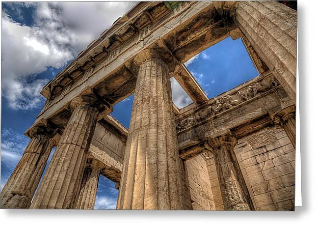 Greeting Card featuring the photograph Temple Of Hephaestus by Micah Goff