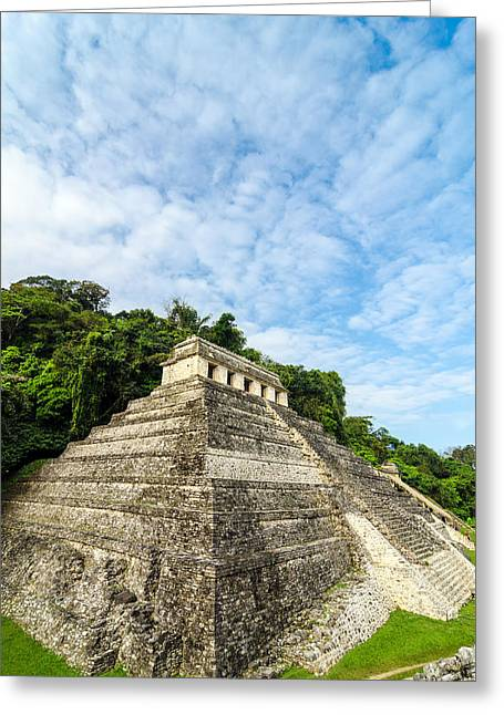 Temple Of Inscriptions Vertical Greeting Card by Jess Kraft
