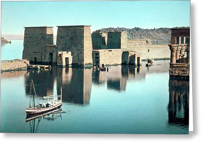 Temple Of Isis At Philae Greeting Card by Library Of Congress