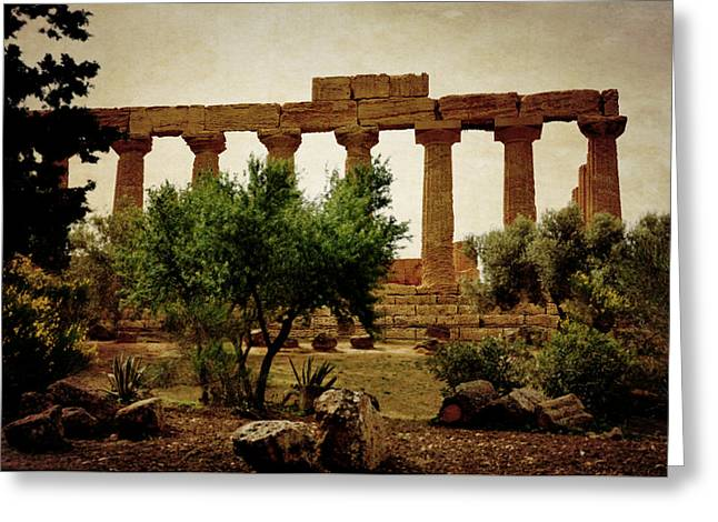Temple Of Juno Lacinia In Agrigento Greeting Card by RicardMN Photography