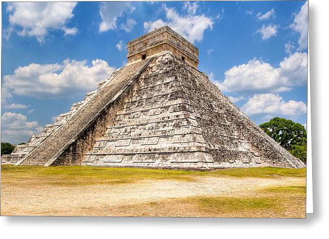 Temple Of Kukulkan At Chichen Itza Greeting Card by Mark E Tisdale