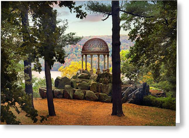 Temple Of Love In Autumn Greeting Card