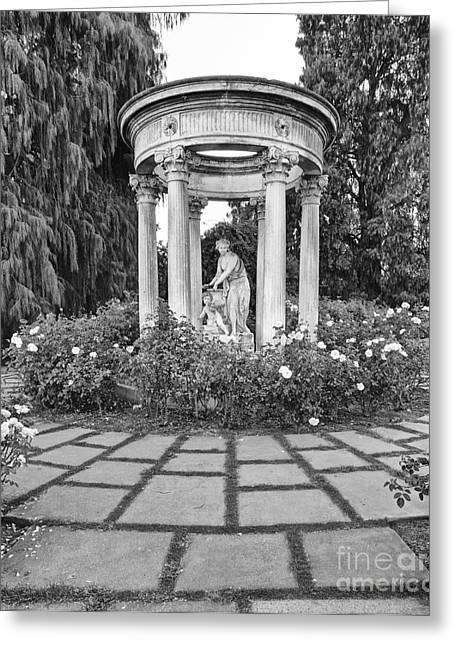 Temple Of Love - Statue At The Rose Garden Of The Huntington Library. Greeting Card by Jamie Pham