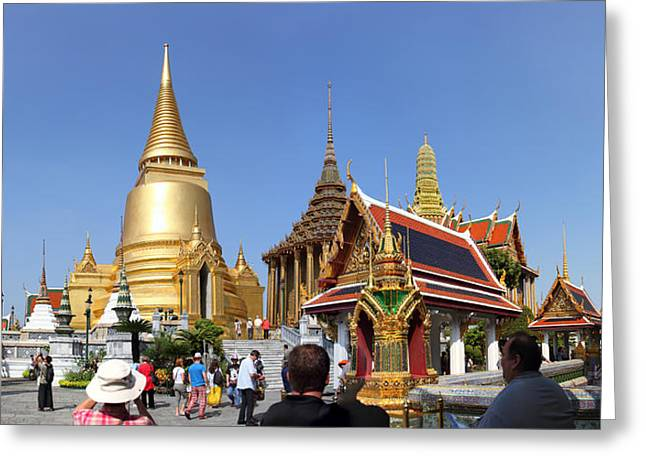 Temple Of The Emerald Buddha - Grand Palace In Bangkok Thailand - 01132 Greeting Card by DC Photographer
