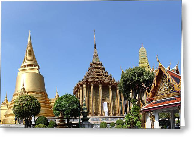 Temple Of The Emerald Buddha - Grand Palace In Bangkok Thailand - 01137 Greeting Card