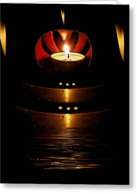 Temple Of The Light Greeting Card by Pepita Selles