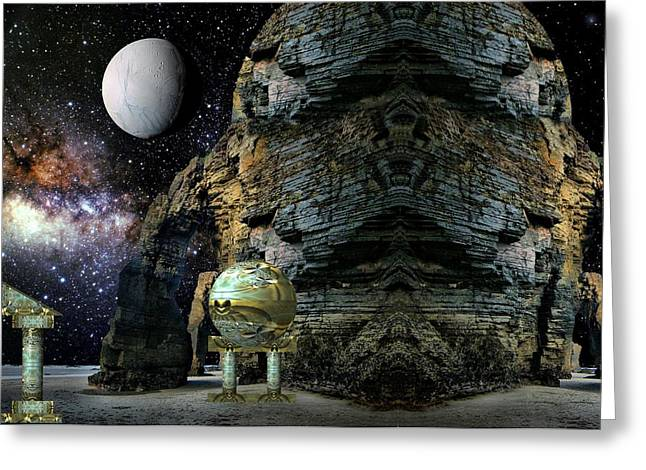 Temple Of The Mind Greeting Card by Robert Kernodle