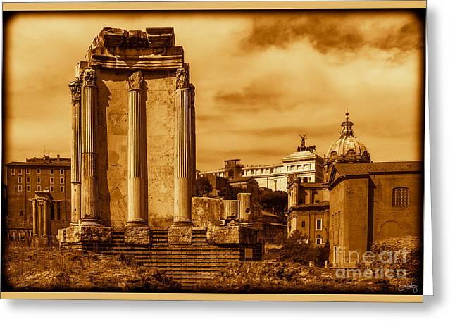 Temple Of Vesta Greeting Card
